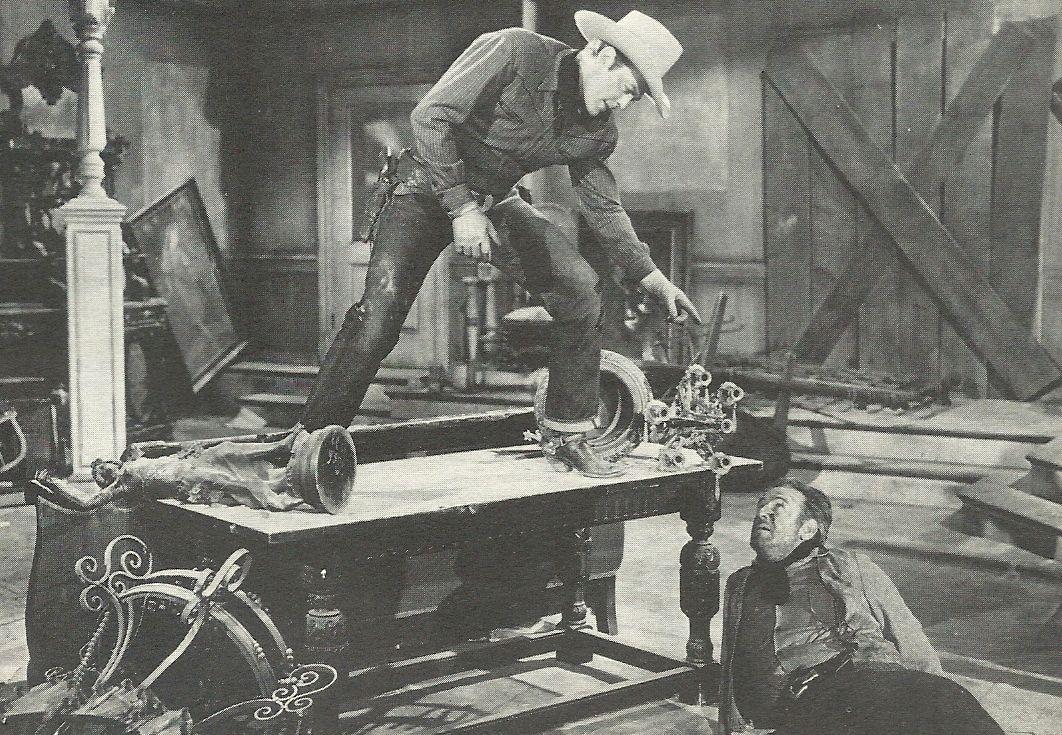 Roy Barcroft and Allan Lane in Salt Lake Raiders (1950)