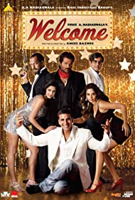 Nana Patekar, Anil Kapoor, Akshay Kumar, Paresh Rawal, Katrina Kaif, and Mallika Sherawat in Welcome (2007)