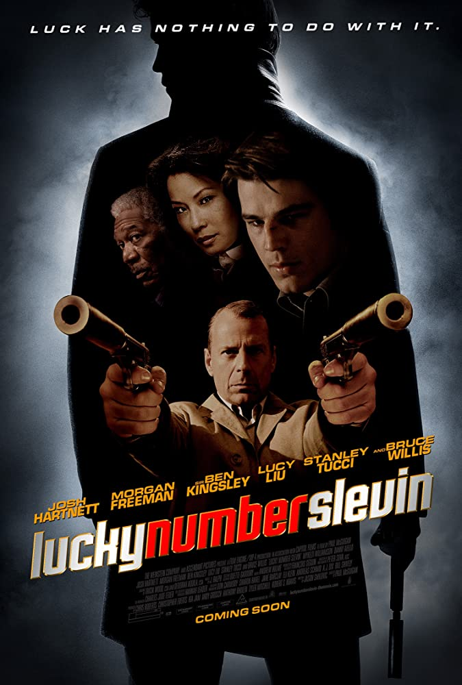 Morgan Freeman, Bruce Willis, Josh Hartnett, and Lucy Liu in Lucky Number Slevin (2006)