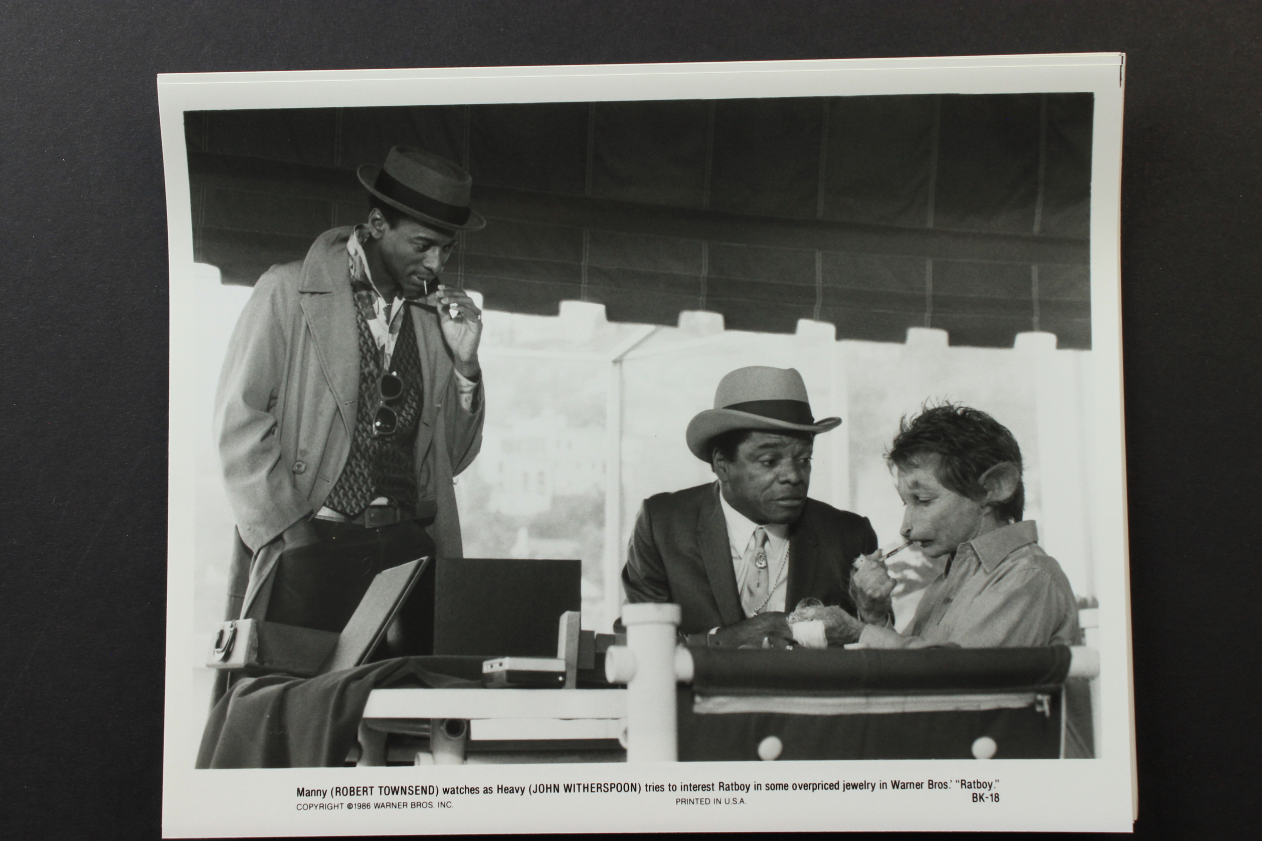 Sharon Baird, Robert Townsend, and John Witherspoon in Ratboy (1986)