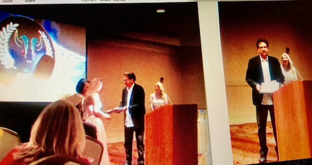 Handing  out  Awards Niagara Falls Film Festival
