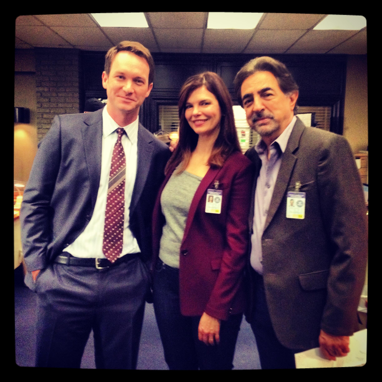 Adam Edgar On set as Agent Green for CBS series Criminal Minds.