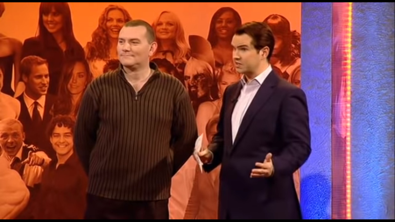Jimmy Carr and John Smeaton in The Big Fat Quiz of the Year (2007)