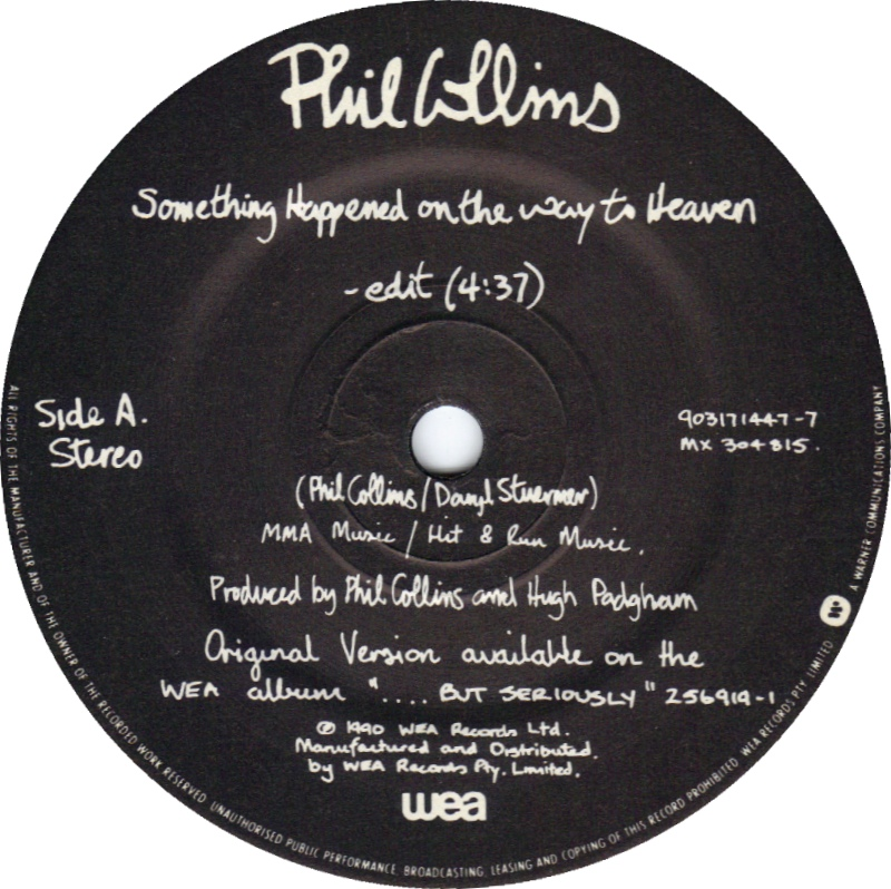 phil collins something happened on the way to heaven 1990
