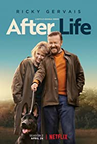 Ricky Gervais, Kerry Godliman, and Anti in After Life (2019)