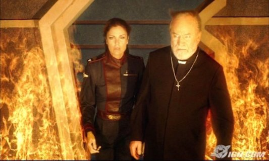 Tracy Scoggins and Alan Scarfe in Babylon 5: The Lost Tales (2007)