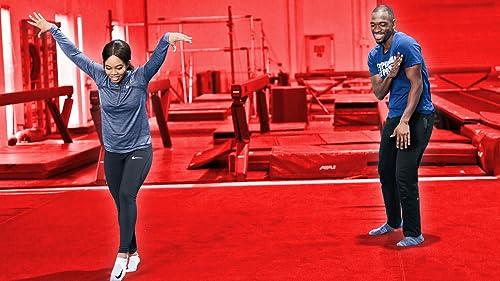 Gabby Douglas Teaches Jay Gymnastics
