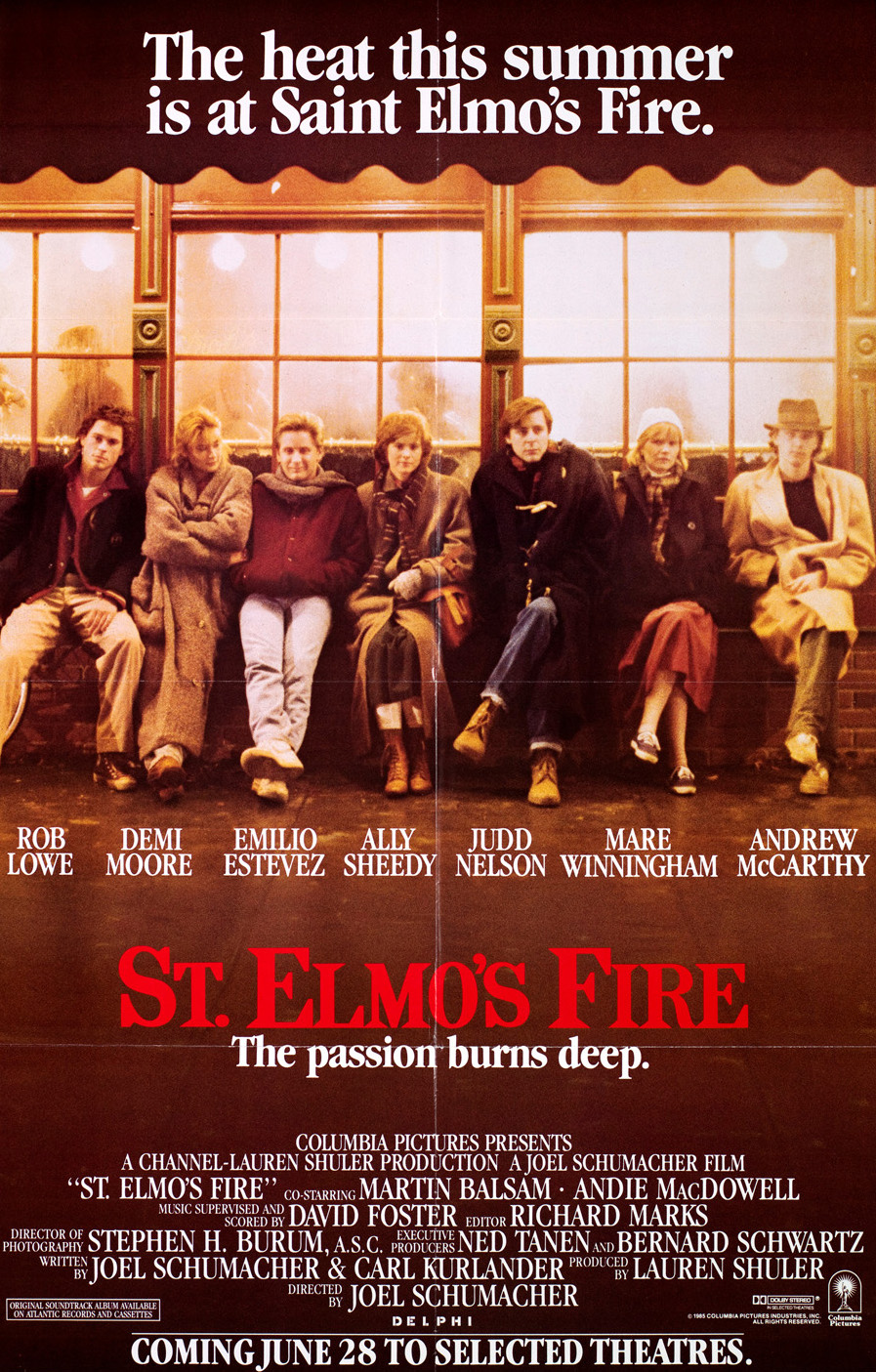 Image result for saint elmo's fire poster