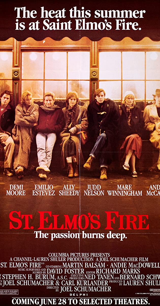 St Elmo S Fire 1985 Trivia Imdb