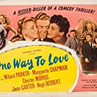 Janis Carter, Marguerite Chapman, Chester Morris, and Willard Parker in One Way to Love (1946)