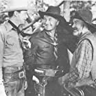 William Boyd, Russell Hayden, and George 'Gabby' Hayes in Texas Trail (1937)