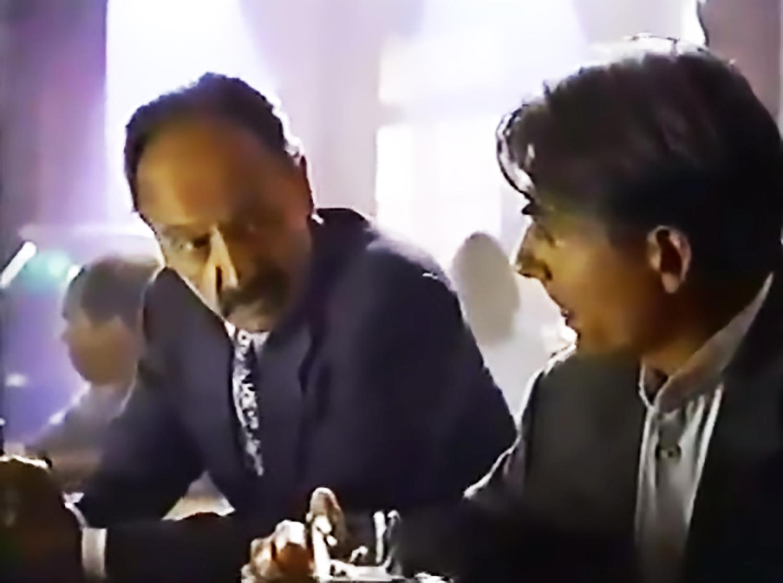 Mark Harmon and Castulo Guerra in Charlie Grace (1995)