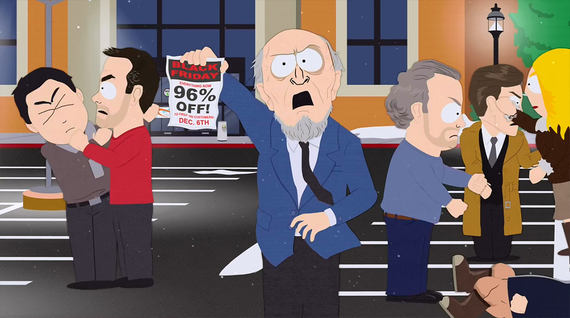el black friday en south park