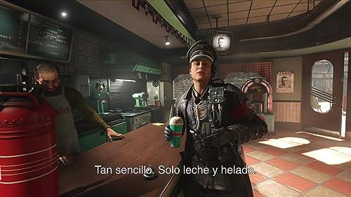 Wolfenstein II: The New Colossus: Strawberry Milkshake Cut Scene (Spanish Subtitled)