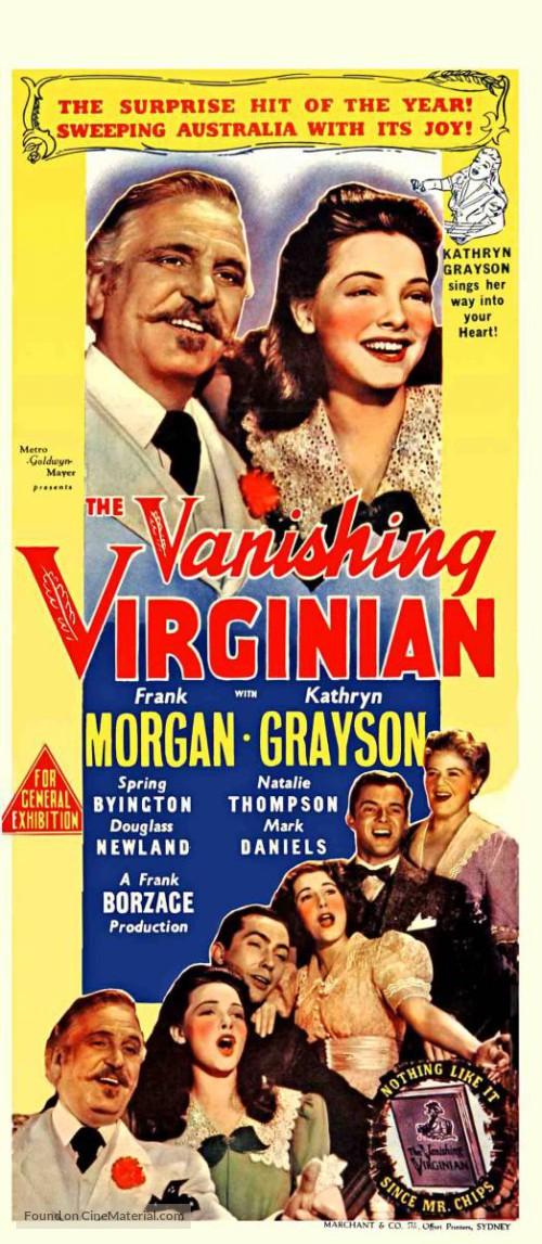 Spring Byington, Mark Daniels, Kathryn Grayson, Johnny Mitchell, Frank Morgan, and Natalie Thompson in The Vanishing Virginian (1942)