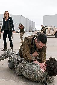 Kim Dickens, Daniel Sharman, and Sam Underwood in Fear the Walking Dead (2015)