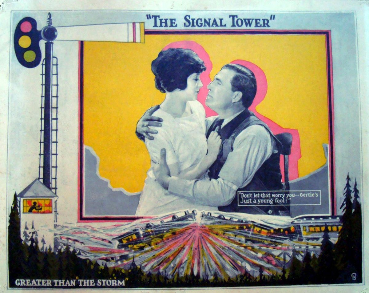 Rockliffe Fellowes and Virginia Valli in The Signal Tower (1924)