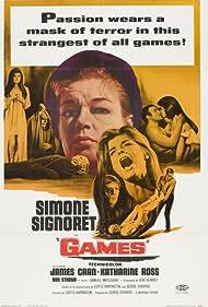 James Caan, Katharine Ross, Marjorie Bennett, Simone Signoret, and Don Stroud in Games (1967)