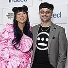 Keith Calder and Jess Wu Calder at an event for Blindspotting (2021)
