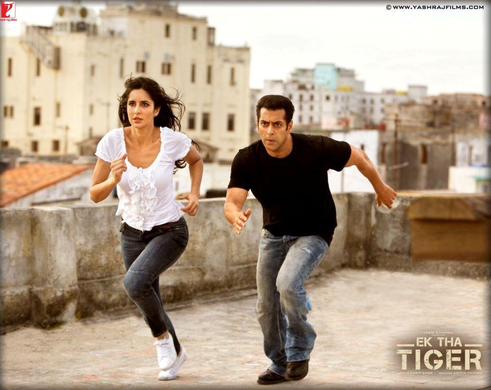 Katrina Kaif dan Salman Khan dalam film Ek Tha Tiger.