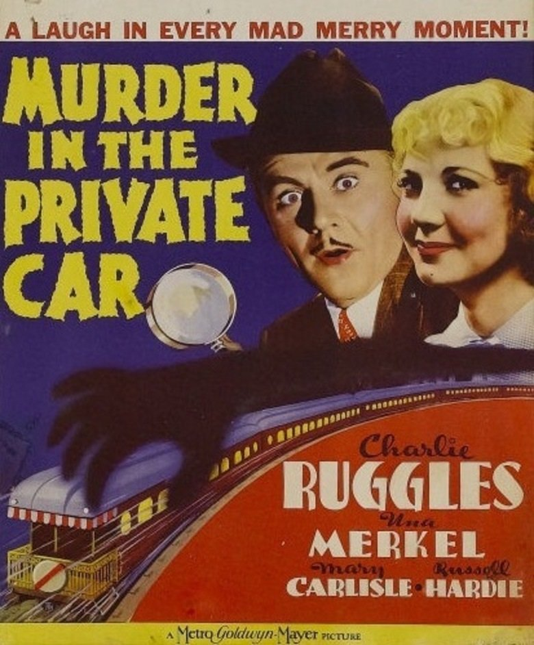 Una Merkel and Charles Ruggles in Murder in the Private Car (1934)