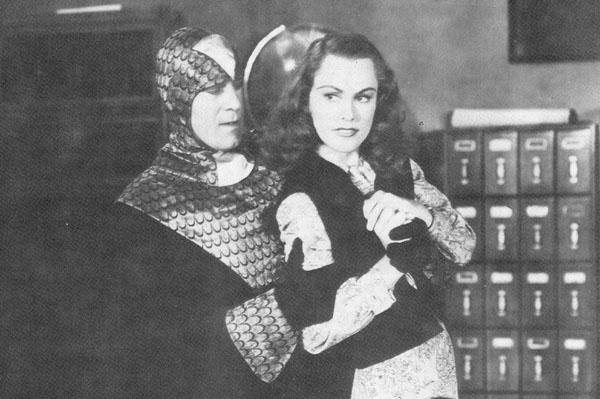 Roy Barcroft and Linda Stirling in The Purple Monster Strikes (1945)