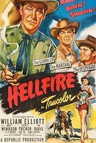 Jim Davis, Bill Elliott, Forrest Tucker, and Marie Windsor in Hellfire (1949)