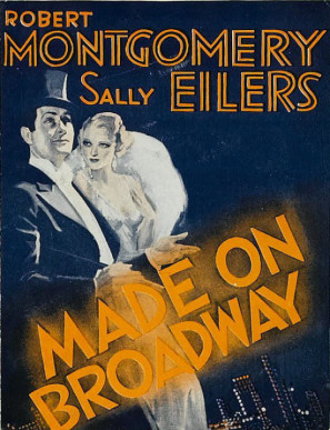 Sally Eilers and Robert Montgomery in Made on Broadway (1933)