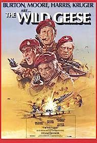 Richard Burton, Roger Moore, Richard Harris, and Hardy Krüger in The Wild Geese (1978)