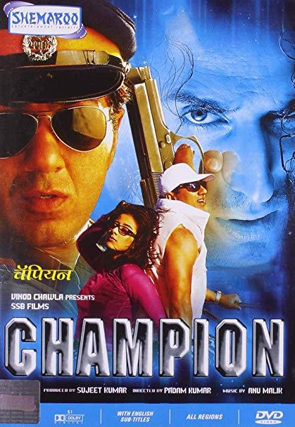 Champion (2000) Full Movie [Hindi-DD5.1] 400MB HDRip 480p Free Download
