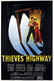 Richard Conte and Valentina Cortese in Thieves' Highway (1949)