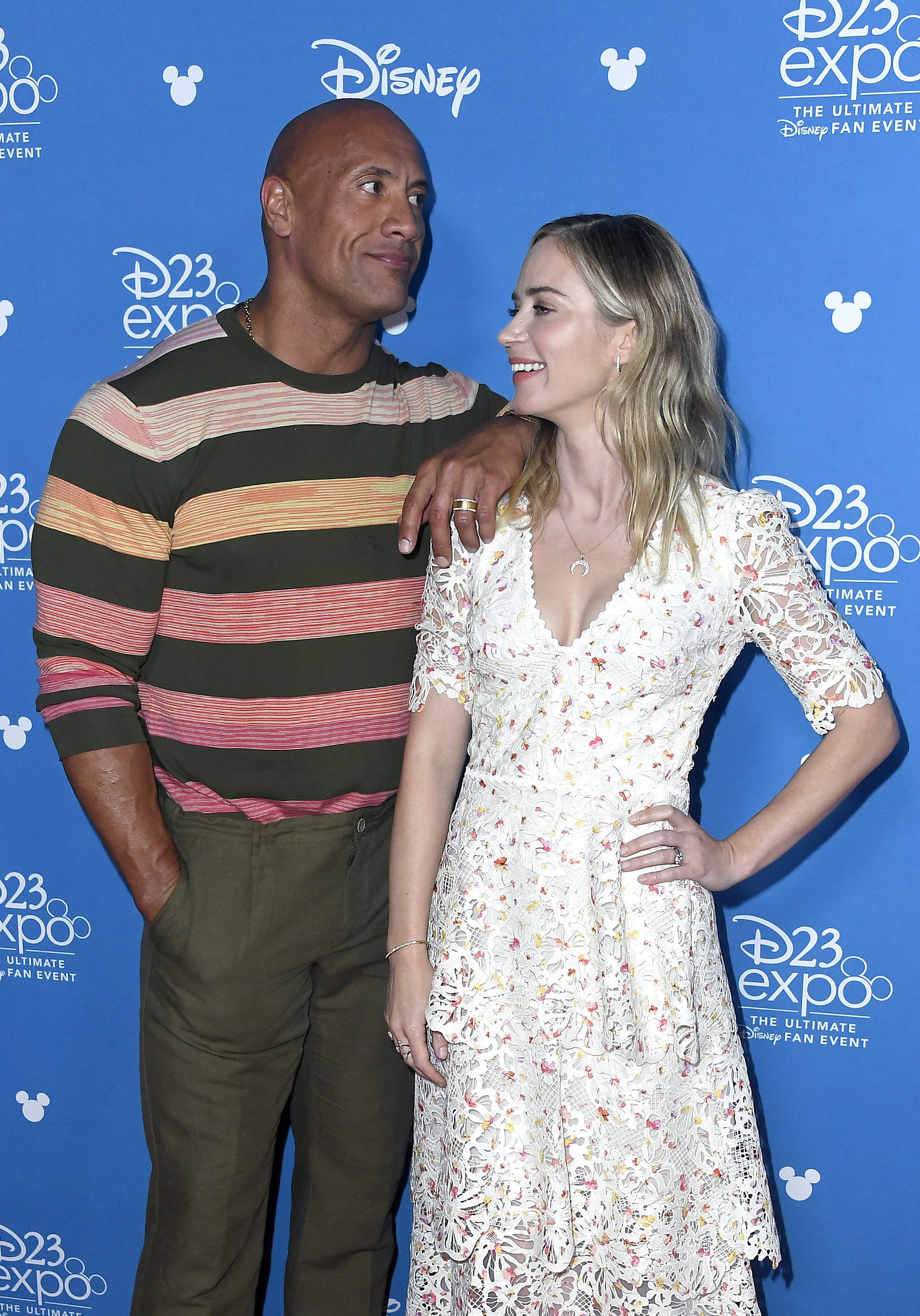 Dwayne Johnson and Emily Blunt at an event for Jungle Cruise (2021)
