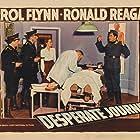 Errol Flynn, Rudolph Anders, Albert Bassermann, Nancy Coleman, and Henry Victor in Desperate Journey (1942)