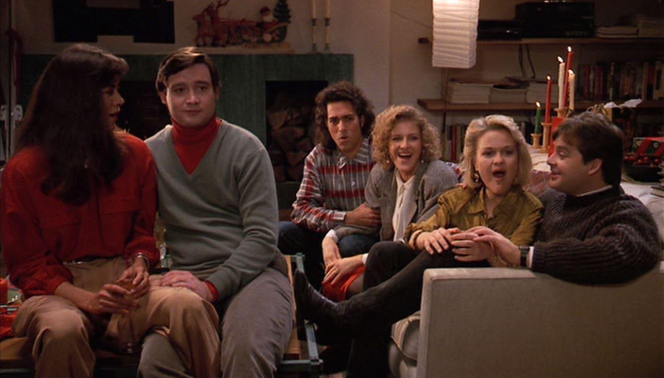 Wendie Malick, Mitch Glazer, Susan Isaacs, Lauri Kempson, Joel Murray, and John Murray in Scrooged (1988)