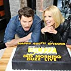Carrie Keagan and Jason Dundas celebrate the 400th eipsode of VH1's Big Morning Buzz Live with Carrie Keagan