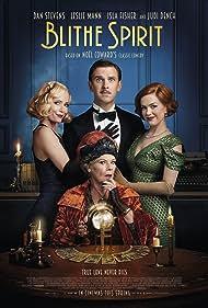 Judi Dench, Leslie Mann, Isla Fisher, and Dan Stevens in Blithe Spirit (2020)