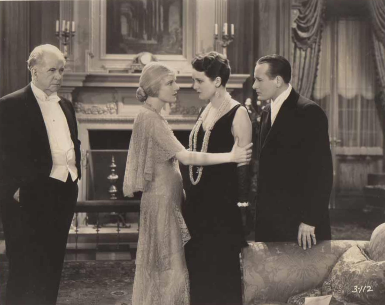 Mary Astor, Ann Harding, William Holden, and Monroe Owsley in Holiday (1930)