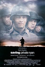 Tom Hanks, Matt Damon, Tom Sizemore, and Edward Burns in Saving Private Ryan (1998)