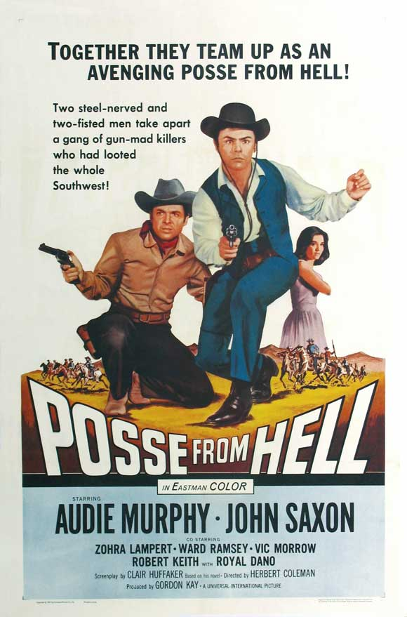Audie Murphy, Zohra Lampert, and John Saxon in Posse from Hell (1961)