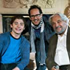 Director Marc Fusco with Hal Linden and Ryan Ochoa on set of The Samuel Project.