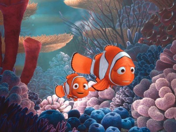 Albert Brooks and Alexander Gould in Finding Nemo (2003)