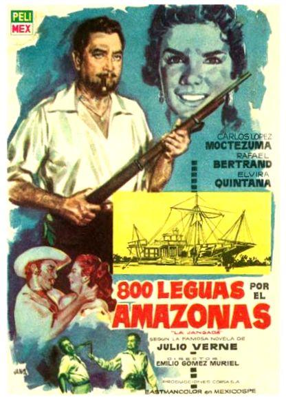 Rafael Bertrand, Carlos López Moctezuma, and Elvira Quintana in 800 leguas por el Amazonas o (La jangada) (1959)