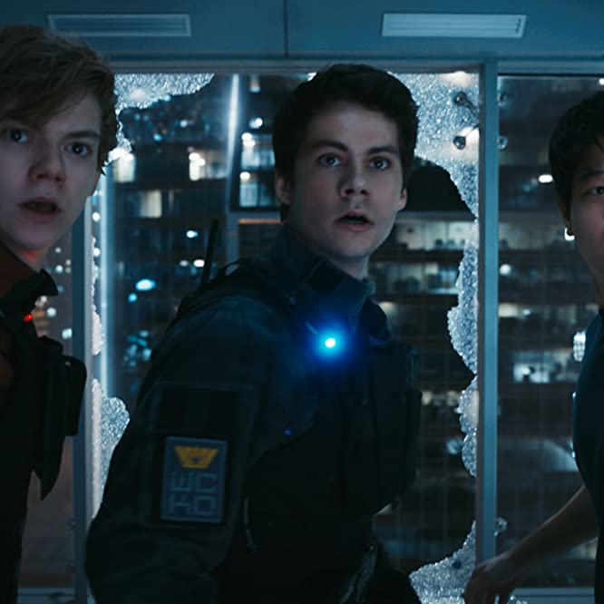 Thomas Brodie-Sangster, Dylan O'Brien, and Ki Hong Lee in Maze Runner: The Death Cure (2018)