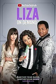 Travis Coles, Kimiko Glenn, and Liza Koshy in Liza on Demand (2018)