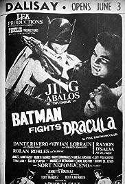 Batman Fights Dracula Poster