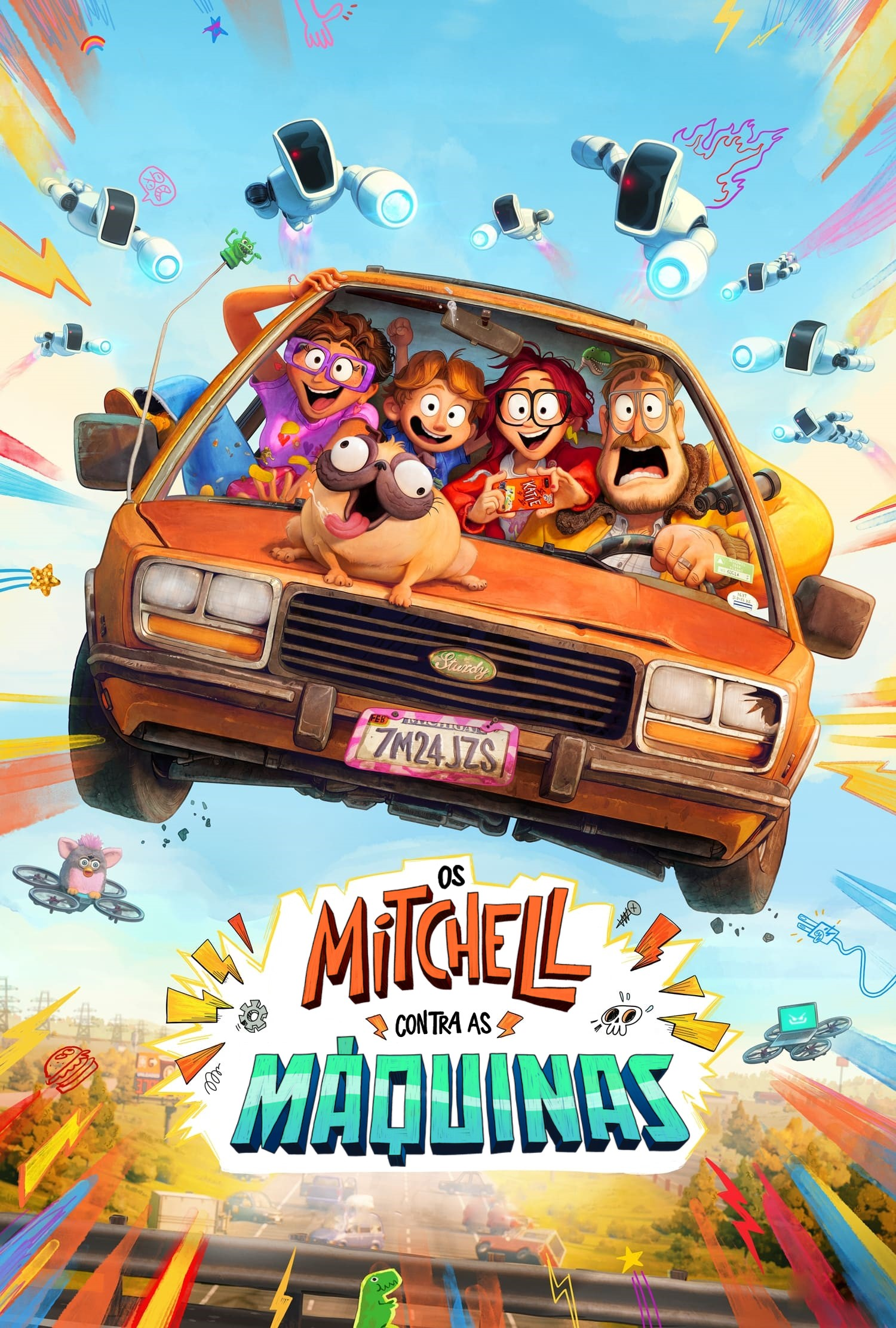 The Mitchell's vs. The Machines Movie Poster