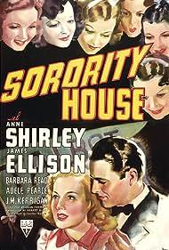 Pamela Blake, Marge Champion, Doris Davenport, James Ellison, Barbara Read, Anne Shirley, and June Storey in Sorority House (1939)