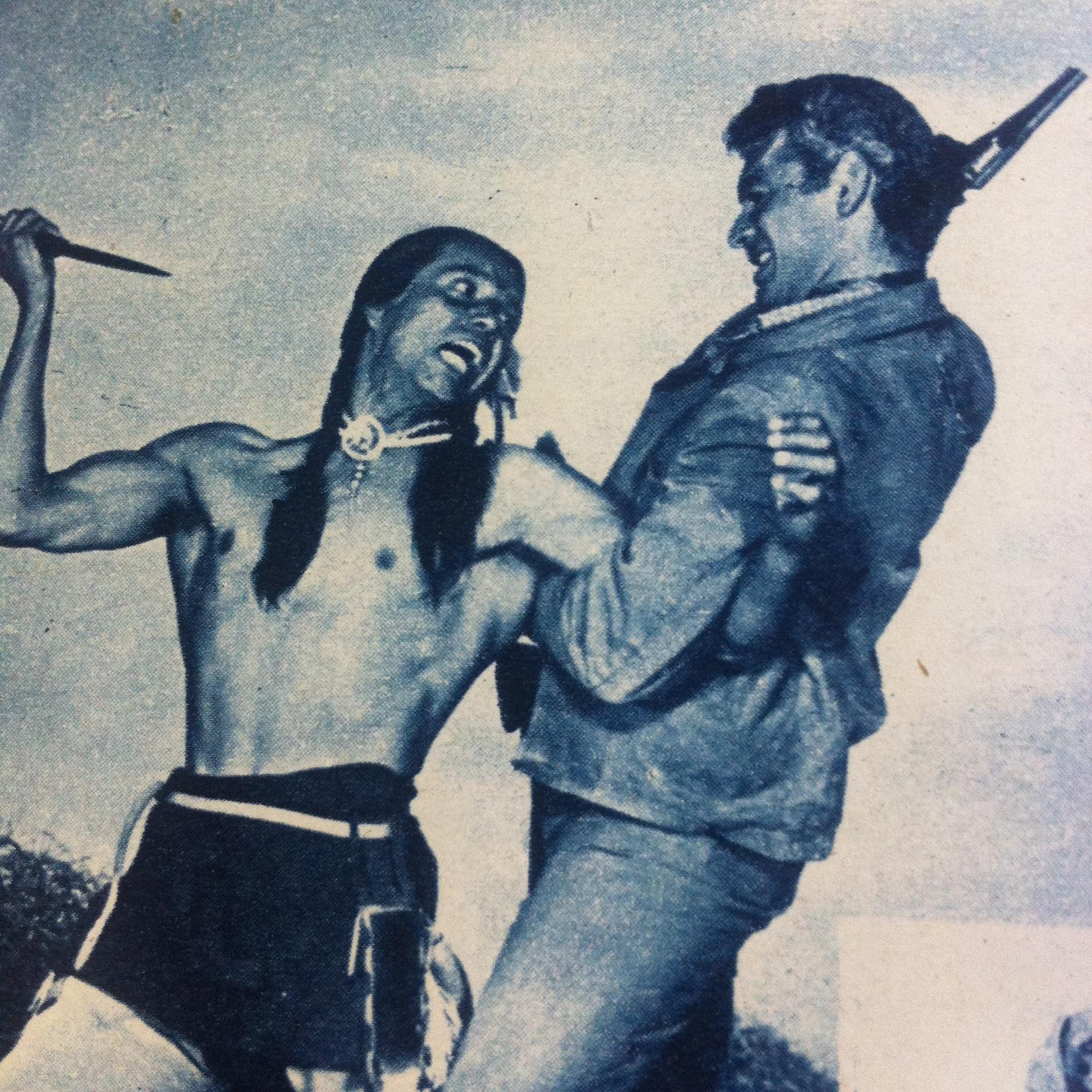 Jeff Chandler and Jay Silverheels in War Arrow (1953)