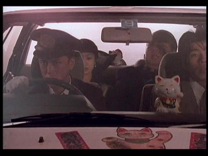Kogan Ashiya, Susumu Terajima, and Megumi Morisaki in 893 Taxi (1994)