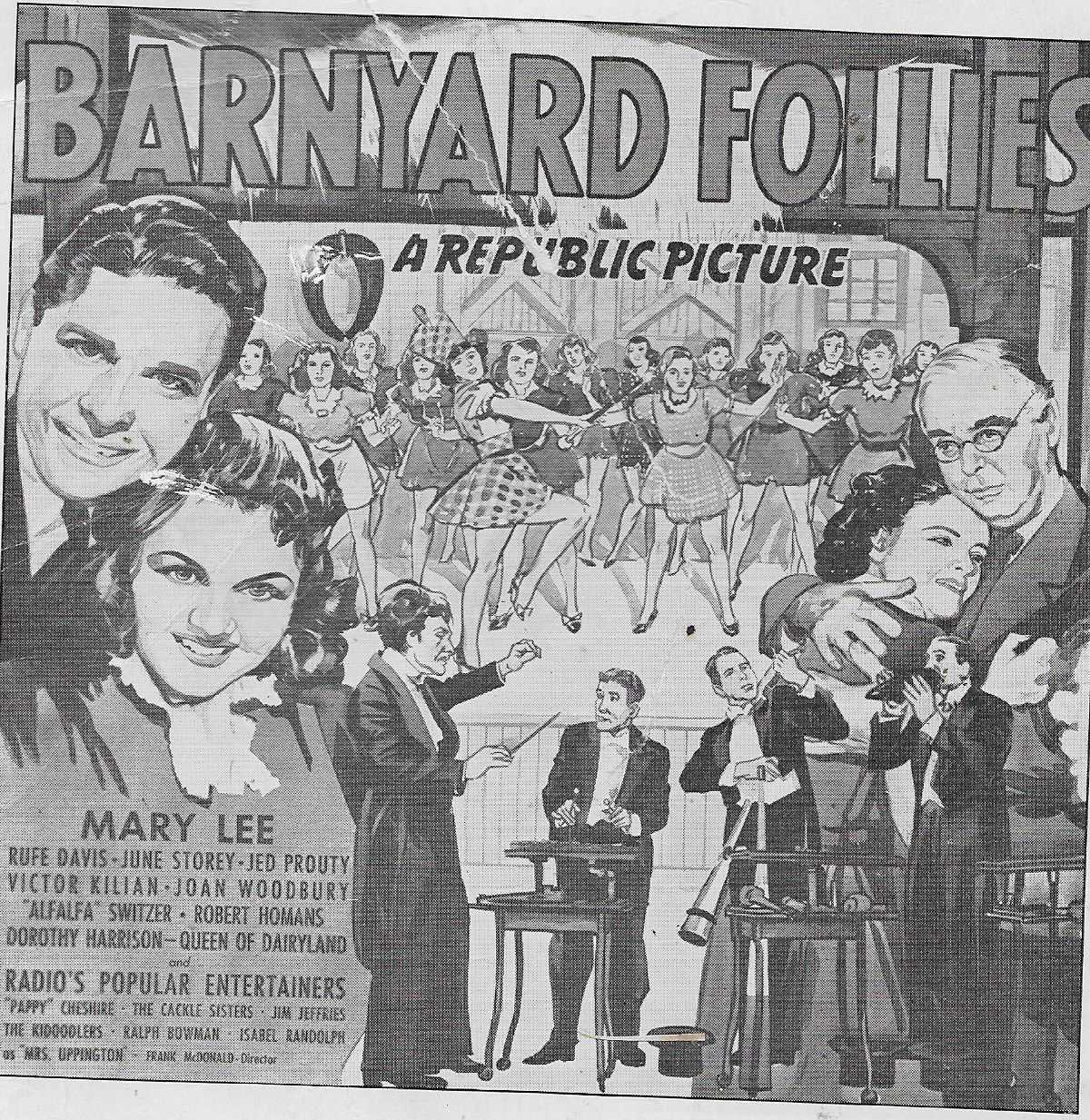 John Archer, Harry Cheshire, Mary Lee, and June Storey in Barnyard Follies (1940)